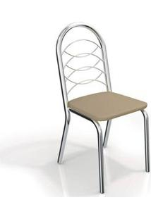 Cadeira Holanda Cromada 2 Peças Nude - Kappesberg-Nude