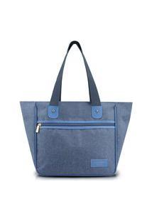 Bolsa Grande Com Alça Jacki Design Be You Azul