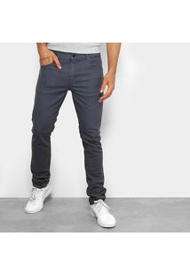 Calça Jeans Slim Quiksilver Street Color Masculina - Masculino-Chumbo