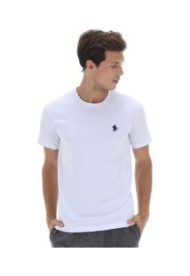 Camiseta Polo Us Gola Careca 606Tsgcb - Masculina - Branco/Azul Esc