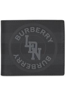 Burberry Carteira Com Logo Gráfico - Preto