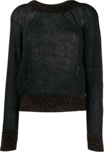 Pinko Suéter Com Detalhe De Brilho - Preto