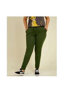 Calça Plus Size Feminina Jogger Moletinho Costa Rica