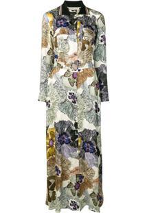 Etro Floral Shirt Maxi Dress - Neutro