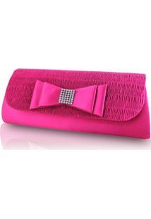 Bolsa Jacki Design Carteira E Clutch Rosa
