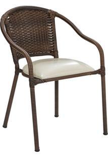 Conjunto Com 2 Cadeiras De Jardim Julia Marrom Ll