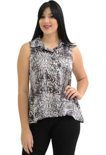 Camisa Moché Estampada - Feminino-Preto