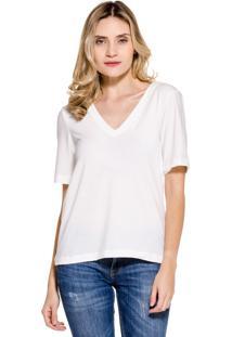 Camiseta Superfluous Gola V Off-White