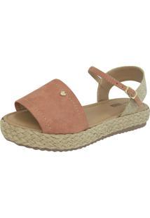 Sandália Flatform Fanuella Calçados - 21-14- Telha