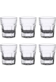 Conjunto 6 Copos De Vidro Para Shot 30 Ml Allure - Bon Gourmet - Transparente