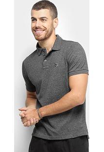Camisa Polo Derek Ho Básica Logo Masculina - Masculino-Preto