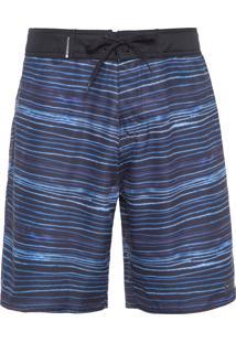 Bermuda Masculina Surf Blur Stripe - Azul