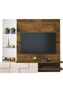 Painel Home Suspenso Para Tv Até 55 Pol. Com Espelho Lago Tronco Ripad