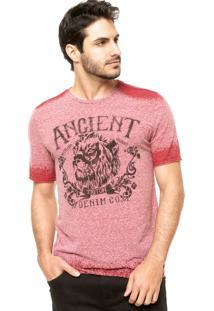 Camiseta Triton Acid Bordo