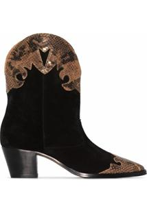 Paris Texas Bota Western Com Salto 55Mm - Preto