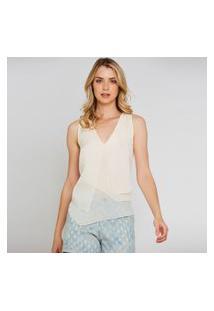 Blusa Cavada Assimétrica - Off White