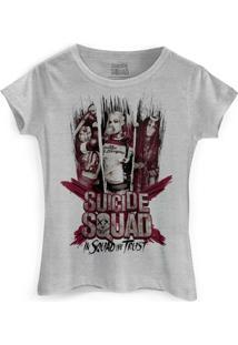 Camiseta Dc Comics Bandup! Esquadrão Suicida We Trust - Feminino