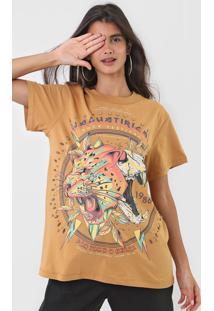 Camiseta Colcci Estampada Caramelo - Caramelo - Feminino - Algodã£O - Dafiti