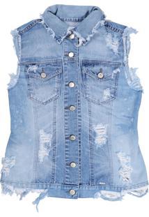 Colete It'S & Co Arles Jeans Azul