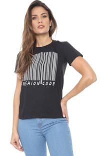 Camiseta Polo Wear Fashion Code Preta