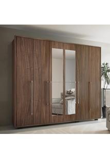 Guarda-Roupa 6 Portas Com Espelho Munique Malbec - Colibri Móveis