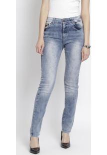 Jeans Skinny Estonado - Azul Clarolee