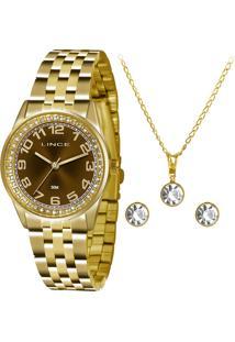 Kit Relógio Feminino Lince Lrgj058L K245N2Kx