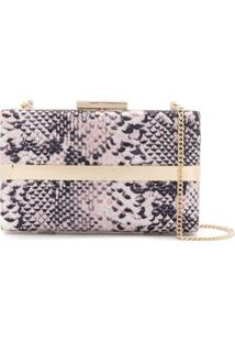 Liu Jo Snakeskin Effect Clutch - Neutro