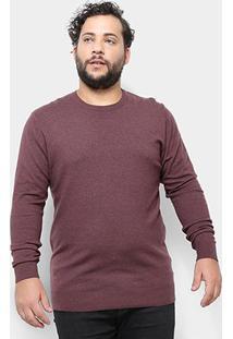 Blusa Tricô Delkor Plus Size Masculina - Masculino-Marrom