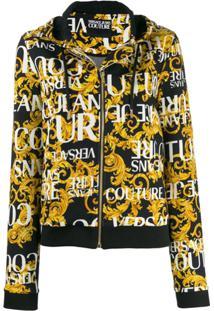 Versace Jeans Couture Moletom Com Estampa De Logo - Preto
