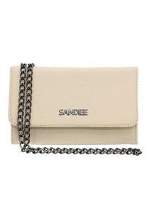 Bolsa Clutch Pequena Sandiee Oficial Off White