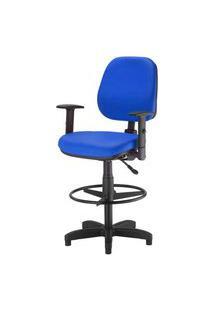 Cadeira Corporate Executiva Cor Azul Com Base Caixa - 43995 Azul