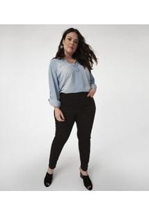 Camisa Jeans Lisa Curve & Plus Size