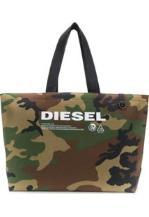 Diesel Bolsa Tote Com Padronagem Camuflada - Verde