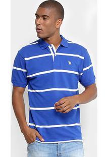 Camisa Polo U.S. Polo Assn Piquet Fio Tinto Bordado Masculina - Masculino