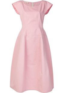 Marni Vestido Evasê - Rosa