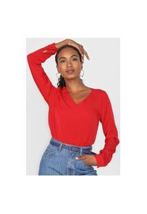 Blusa Aishty Textura Vermelha