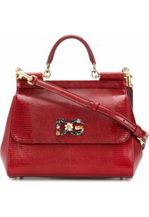 Dolce & Gabbana Bolsa Tote Sicily Média - Vermelho