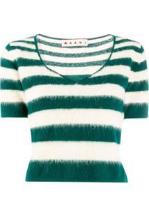 Marni Blusa De Tricô Listrada - Verde