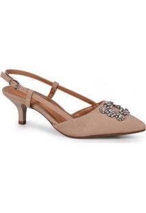 Sapato Feminino Scarpin Bege
