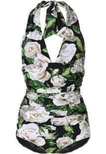 Dolce & Gabbana Maiô Decote Em V Profundo - Verde