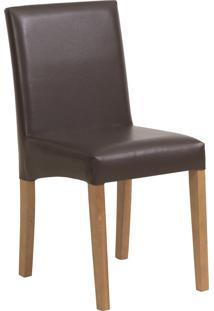 Cadeira Iolanda - Couro Marrom
