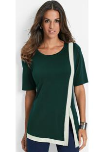 Blusa Assimétrica Verde