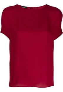 Emporio Armani Classic Silk Blouse - Vermelho