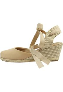 Sandalia Espadrille Hope Shoes Corda Bege