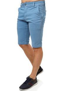 Bermuda Sarja Masculina Azul