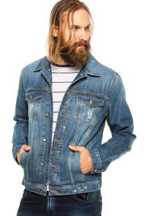 Jaqueta Jeans Colcci Slim Azul