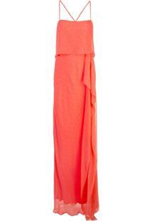 Michelle Mason Vestido Com Alças Finas - Vermelho