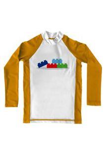 Camiseta De Lycra Comfy Blocos Amarela