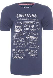 Camiseta Masculina Caipirinha - Azul